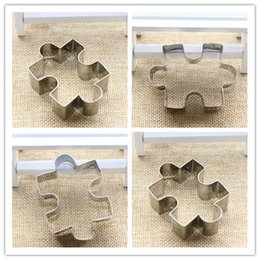 Wholesale Puzzle Steel - Puzzle Shape Cookie Cutter Cake Decorating Fondant Cutters Tool Cookies Stainless Steel biscoito
