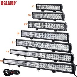 "Wholesale 24v Off Road Lights - Oslamp Led Work Light 12"" 20"" 23"" 28"" 31"" 44"" 50inch Tri-Row LED Light Bar Combo Off-Road 12v 24v SUV ATV 4x4 4WD Trailer Truck"