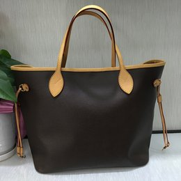 Wholesale Designer Real Leather Tote Bags - Top quality Luxury brand designer women handbag large totes real leather bag with small pouch never shoulder full canvas bag 40995 40996