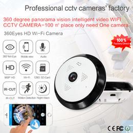 Wholesale Mini Ip Webcam - 360 Graden smart panoramin webcam Mini draadloze camera IP camera 960 P wifi ondersteuning P2P tweeweg audio360 Graden
