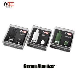 Wholesale Dual Atomizers - 100% Original Yocan Cerum Atomizer Full Ceramic Wax Vaporizer Tank with Quartz Dual QDC Coil for Evolve Plus Kit