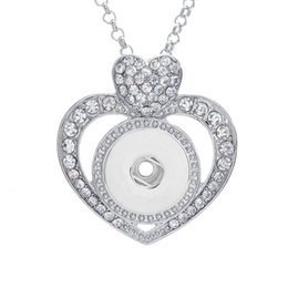 Wholesale Interchangeable Heart Pendant - 3 Colors NOOSA Heart Shape Ginger Snap Charms Jewelry Interchangeable Jewerly Crystal Pendants wholesale Necklace for women B0369