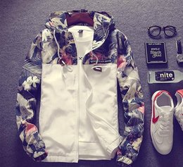 Wholesale Hot Slim Patch - Hot sale Men Bomber Jacket Hip Hop Patch Designs Flower Print Slim Fit Pilot Loose Outwear Mens jackets and Coats youth fashion clothing