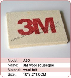 Wholesale Vinyl Suppliers - 3M soft Wool Squeegee Scraper Cheap scraper blade High Quality scraper tool China squeegee Suppliers