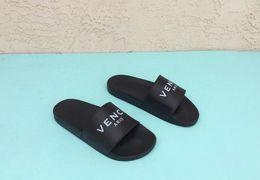 Wholesale Gladiator Leather Sandals Women - 2018 men women designer sandals brand slippers summer huaraches slippers sandals flat lettering brand slides designer sandals size US 5.5-11