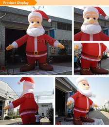 Wholesale Inflatable Figures - 16ft inflatable Santa Claus Christmas santa cartoon figure with Open hands