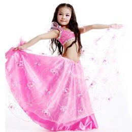 Wholesale Bollywood Kids - 2016 New Arrival Child Bollywood Dance Costumes Girls Bellydance Costume Rose Purple White Pink Kids Belly Dancer Free Shipping