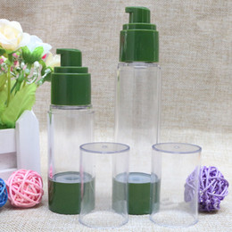 Wholesale High Vacuum Pressure - 30ml 50ml empty green bottle vacuum flask high pressure bottle,No air emulsion pump bottle perfume dispenser F20172136