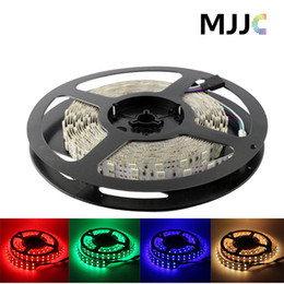 Wholesale Double Rows Waterproof Led Strip - Double Row 5M 16.4ft 5050 RGB or Single Color 600 LED Tube Waterproof Strip Light 12V 120leds m
