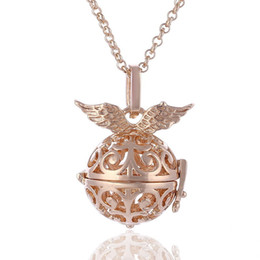 Wholesale silver harmony ball necklace - Harmony ball sterling Silver Plating Angel ball in pendants necklaces jewelry free ship