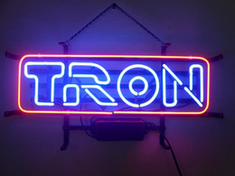 Wholesale White Marquees - Brand New Tron Marquee Real Glass Neon Sign Beer light