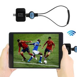 Wholesale Digital Satellite Usb Tv Tuner - Mini ATSC Digital Live TV Tuner Wirelss Satellite Receiver Stick Dongle Adpater Android Phone Pad PC USA Korea Canada Mexico 707