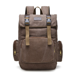 Wholesale Travel Backpack Cooler - Cool 2016 Men Backpack Girls Backpack Casual Travel Bag Canvas Shoulder Bag 5 Colors Plain Fashion Women Bag Wholesale