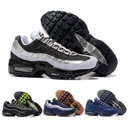 Wholesale Buttons Cushion - 2017 Men Retro 95 OG Cushion Navy Sport Air High-Quality Chaussure 95s Walking Boots Men casual Shoes Air Cushion 95 Sneakers Size 40-46