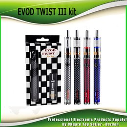 Wholesale twist tank - Authentic Evod Twist III Starter Kit with M16 Atomizer 2ml BDC Coil Tank 1600mAh battery Built In Capacity 100% genuine DHL Free 021123