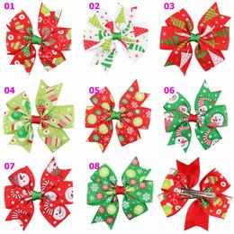 3 pulgadas Baby Bow Pinzas para el cabello Arcos de la cinta de Grosgrain de Navidad CON Clip Snow Baby Girl Pinwheel Horquillas para el cabello Accesorios de pin de pelo de Navidad SEN260 desde fabricantes