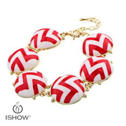Wholesale Bracelets Chamilia - Colorful European Style gold Plated Chamilia Beads Bracelet & Bangles for Women with big Acrylic Beads HYJS1214B