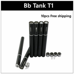 Wholesale Disposable Vaporizer - New Thick Disposable 510 Hemp Oil Vaporizer BB Tank T1 With Vapor Pen Single Black E Cig Capacity 0.25ml 0.5ml