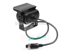 Wholesale Truck Bus Rear Cameras - 4 Pin Bus Trailer CCD 18 LED IR Night Vision Car Rear View Reverse Camera Bus Truck 12V Free Shipping