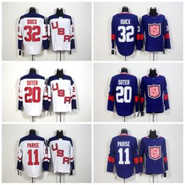 Wholesale Jonathan Quick Olympic Jersey - 2016 World Cup Team USA Olympic Games 11 Zach Parise Jersey,ICE Hockey 32 Jonathan Quick Jerseys Embroidery 20 Ryan Suter