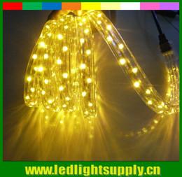 Cuerdas de luz de cristal led online-50M AC220V Cable plano de 3 hilos LED Light 72LEDs / m Impermeable Iluminación Exterior Decoración Crystal Clear PVC Tube Light Strip