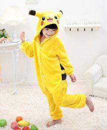 Wholesale Girls Onesie Pajamas - Children Poke Pikachu Dinosaur Pocket Monster Onesie Kids Girls Boys Warm Soft Cosplay Pajamas One Piece Sleepwear Halloween Costumes