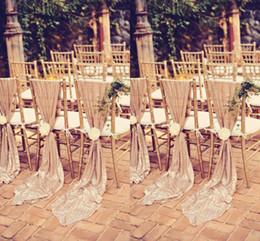 White party sash online-Nueva Glamorosa Maui Destino Silla de Boda Volver Fajas Cubrir Blanco Marfil Personalizado HECHO Banquete Decoración Del Partido Navidad Cumpleaños Silla Fajas