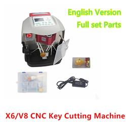 Wholesale X6 Key Cut - New X6 V8 CNC Key Cutting Copy Machine Professional Car Key duplication Machine Precise locksmith Tools 1set lot dhl free shipping