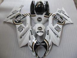 Wholesale Lucky Strike Motorcycle Fairings - Motorcycle Fairing kit for SUZUKI GSXR1000 07 08 GSX-R GSXR 1000 K7 2007 2008 LUCKY STRIKE White black Fairings set