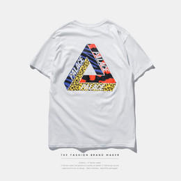 Wholesale Men Breathable Clothes - 2016 palace skateboards classic triangle print mens t shirt basic summer noah clothing cotton short sleeve tees tops
