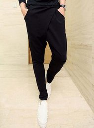 Wholesale Harem Pants Men Outfits - Han edition low-grade slacks baggy pants men's fashion barber foot lift fork haroun pants modelling autumn outfit   27-42