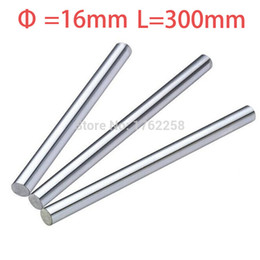 Wholesale x axis linear - Wholesale- 1pcs 16mm 16x300 linear shaft 3d printer 16mm x 300mm Cylinder Liner Rail Linear Shaft axis cnc parts