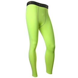 Wholesale Skin Hot Pants - Wholesale-New Men Compression Base Layer Pants Long Tight Under Skin Sportswear Gear Bottom Hot