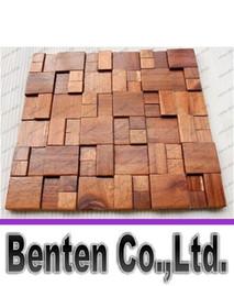 Wholesale Country Wooden - 3D wooden mosaic tiles interior design wall tiles building supplies home hotel bar restaurant design mosaic tile patterns natural wood mosai