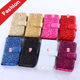 Wholesale Chinese Clip Flowers - Camellia Flower Wallet Leather Pouch Flip Case For LG G5 G3 G4 Samsung Galaxy Grand Prime G530 Huawei P9 LITE Plus Strap Soft Stand Cover