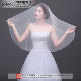 Wholesale Fingertip Covers - The new Korean brides veil brief paragraph ultra soft contracted monolayer covering surface element 1.5 bare yarn yarn