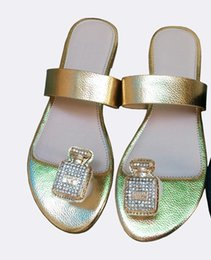 Wholesale Small Yards Sandals - so hot!2016 summer new small fragrant feng shui diamond sandals - fashion with drilling large size shoes 36-42 yards