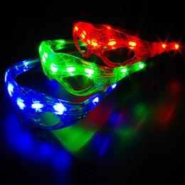 brinquedo dançando spiderman Desconto LED Spiderman Luz Piscando Óculos Presente Elogio Máscara de Dança de Natal do Dia Dos Namorados Dias Presente Novidade LED Óculos Led Rave Toy Partido Óculos