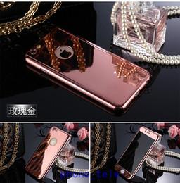 iphone gold spiegelschirmschutz Rabatt 2016 3 In 1 360 Protector + galvanische Spiegel Fall Hartmetall PC-Gehäuse mit klarem gehärtetem Glas-Bildschirm für iPhone 5 5 s 6 6 s plus