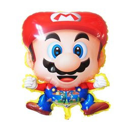 Wholesale Amusement Toys - 2016 new Activity & Amusement Toys Mario Balloon Cartoon Character Helium Balloon Party Decoration Gift For Kids free shipping