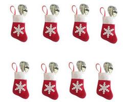 Canada Bas de Table Sac de Vaisselle Décorations de Noël Intérieur Rouge Blanc Neige (12pcs / lot, 6 vêtements 6 pantalons) cheap snow pants Offre