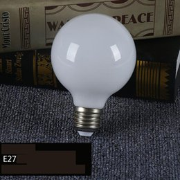 Wholesale Room Beads - Spherical energy saving and consumption of milk white light bulb 360 light led glass G80 G95 G125 bright dragon beads bubble