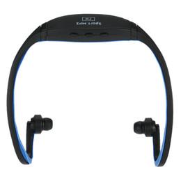 Prise casque double en Ligne-Lecteur de musique numérique compact à double canal Sports MP3 8 Go avec fonction FM Casque sans fil Carte plug-in Casque Noir