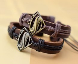 Wholesale Film Animations - A new leather bracelet bracelet on behalf of film and television animation Superman wolf two new fashion personality leather jewelry jewelry