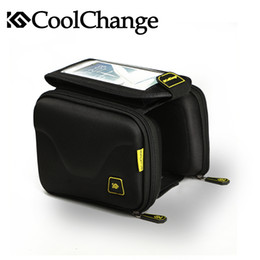 Wholesale Top Tube Bag Phone - Coolchange NEW 2016 Cycling Bike Bicycle Bag Tube Top Front Frame Bag Pannier Double Pouch for 5in Cellphone