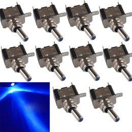 Wholesale Rocker Toggle Switch - 10* LED Light Toggle Switch Rocker 12V 20A ON OFF SPST Car Truck Boat B00437