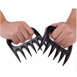 Wholesale Roasted Meats - Plastic Bear Paws Claws Meat Handler Fork Pull Shred Pork Meat BBQ Roasting Shredder Tool Kitchen Tools #4023