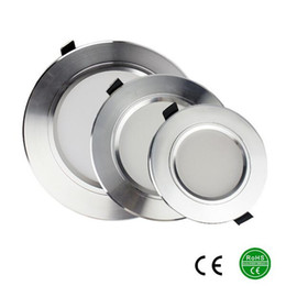 Wholesale Downlights Living Room - Silver high power led downlights 5730SMD 10W 15W 20W AC110-240V led lamp led light for bed room lamps living room kitchen foyer study