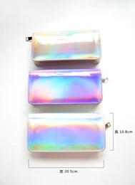 Wholesale Discount Mini Handbags - Wholesale- Discounts ! Women handbag Hologram wallet Laser Silver Bag Lady's Mini Make-up Clutch Handbag hologram handbag Free Shipping