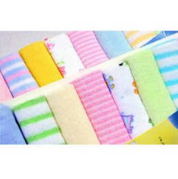 Wholesale Babies Washers - 8 x NEW Baby Face Washers Hand Towels Cotton Wipe Wash Cloth Gift BULK SALE